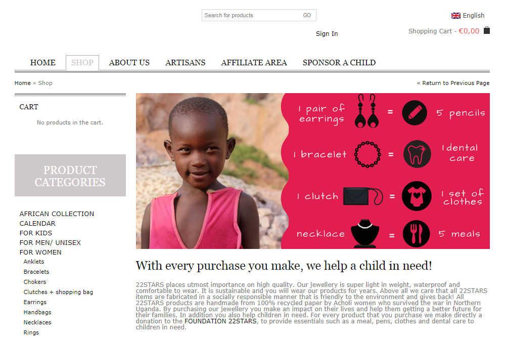 22STARS Online Shop